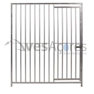 Frente de canil com porta 1mt