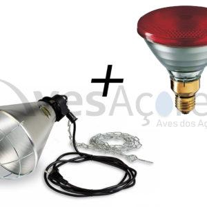 Refletor de aquecimento com lâmpada de infravermelhos