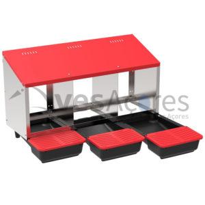 """Ninho de METÁLICOS """"PLATINUM"""" interior 3 compartimentos"""