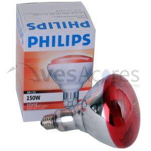 Lâmpada infravermelha Philips, 150W, vermelha