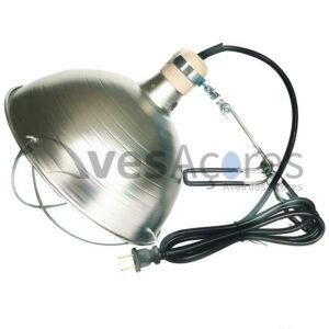 Suporte de lâmpada infravermelhos com protetor.