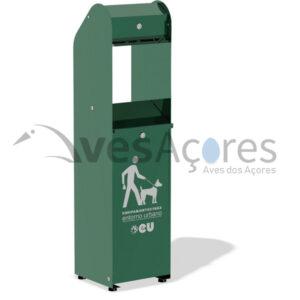 Dispensador de sacos para parques de cães para coletar resíduos de cães.