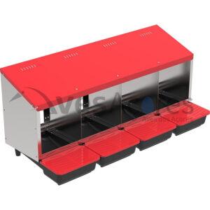"""Ninho de colocação de metal interno """"Platinum""""4 Compartimentos"""